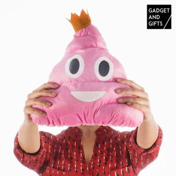 ONETOW Gadget and Gifts Emoji Pink Poo Cushion