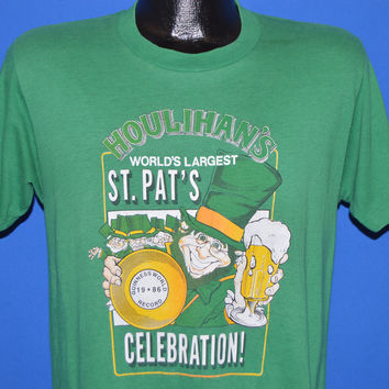 80s Stroh's St. Patrick's Day Houlihans t-shirt Medium