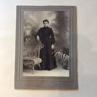 "Antique Photo ""The Woman in Black"""