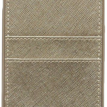 CREYV2S Michael Kors Metallic Electronic Leather Phone Cover with Pocket 7+
