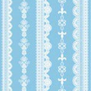 White Lace Temporary Tattoos code 4