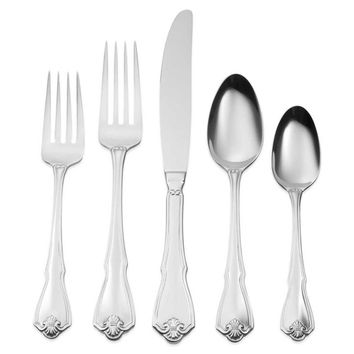 Oneida Pinta 45 Piece Casual Flatware Set, Service for 8
