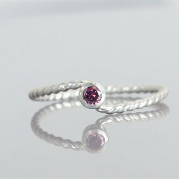 Alexandrite Silver Wave Ring