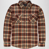 Shouthouse Hampton Mens Flannel Shirt Brown  In Sizes