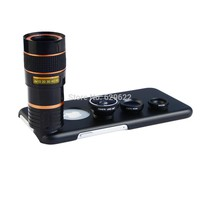 Apexel 4 in1 8X Telephoto zoom Lens + Fisheye lens + Wide Angle&Macro Mobile Phone Camera Lens For iPhone 6 4.7inch lenses