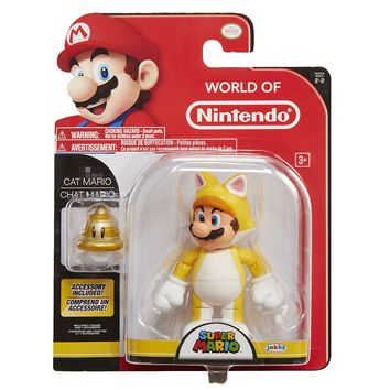 World of Nintendo Super Mario Cat Mario action figure NIB by Jakks Pacific NIP