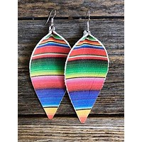 Handcrafted Leather Serape Jojo Earrings