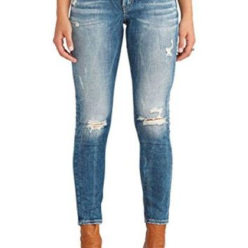 DCCKAB3 Silver Jeans Suki Ankle Skinny Jeans Medium Wash