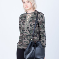 Bomb Squad Lace-Up Sweater