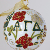 Alpha Gamma Delta Cloisonne Ornament with by KittyKellerDesigns