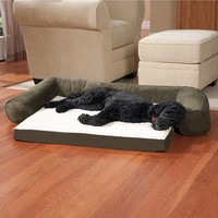 Doctors Foster & Smith SofSuede Couch Bolster Pet Bed