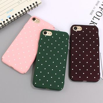 2017 Pink Black Dot Wave point Phone Cases Secret For iPhone 6 6s 7 plus Girl Coque popular hard back Cover For iphone X 8 8plus