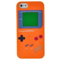 EarlyBirdSavings Orange Game Boy Style Silicone Cool Phone Case Cover Skin For iPhone 5 5G 5th