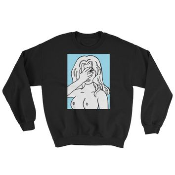 Unapologetic Blue Girl Crewneck Sweatshirt