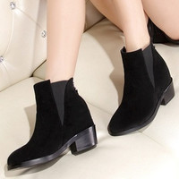 Street explosion models Martin boots thick with bare boots fashion increased internal boots women boots high-heeled boots = 1747740420