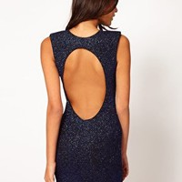 John Zack Sparkle Open Back Dress at asos.com