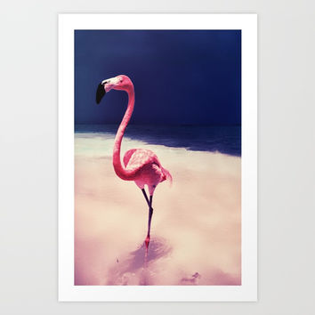 Flamingo Art Print by JG-DESIGN
