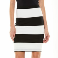 Jennifer Lopez Striped Pencil Skirt - Women's