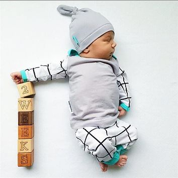 2018 Autumn style Infant Clothing Baby Boy Clothes Cotton Long sleeve 3Pcs/Suit Newborn Toddler Outfits Baby Boy Clothing Set