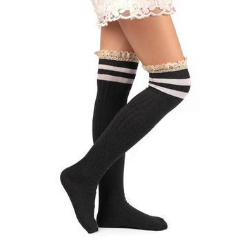Autumn winter Warm Women Long Socks Over Knee High Sock Women Slim Sexy elastic Socks Female Sexy Top Quality Stockings