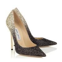 Jimmy Choo Women Gradient Color Fashion Pointed Toe Heels Shoes-2