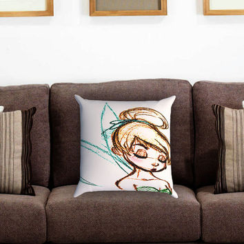 Tinkerbell Fairy Dust Art Pillow Cover , Custom Zippered Pillow Case One Side Two Sides