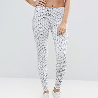 Varley White Snake Print Legging at asos.com