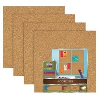 "The Board Dudes Cork Board Tiles 12""x12"""