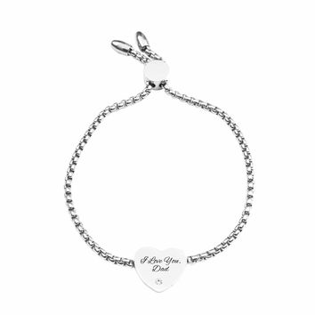 Inspirational Slider Bracelet By Pink Box - I Love You, Dad