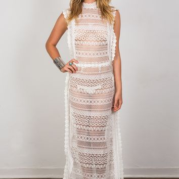 Soah Angelina Lace Maxi Dress