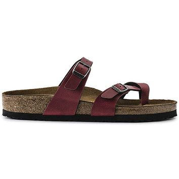 Birkenstock Mayari Birko Flor Pull Up Bordeaux 1005021 Sandals - Ready Stock