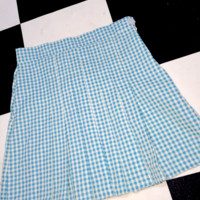 SWEET LORD O'MIGHTY! GINGHAM TENNIS SKIRT IN BLUE