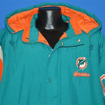 90s Miami Dolphins Snap Up Ski Jacket Extra Large