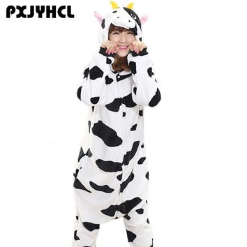 Adult Anime Kigurumi Onesuits Cow Costume For Women Animal Spiderman Tiger Unicorn Onepieces Sleepwear Home Wear Cloths