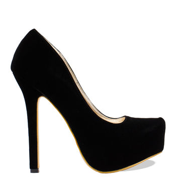 Royally Suede Pumps - Black