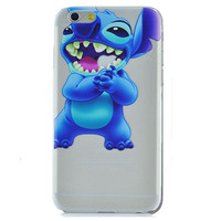 Disney Lilo & Stitch Eating Logo Clear Transparent Case For Apple Iphone 6 (4.7-Inch)