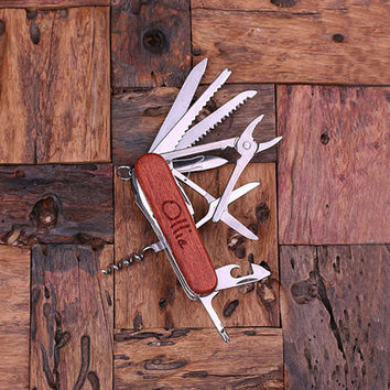 Personalized Swiss Army Ultility Pocket Knife – 13 Tools