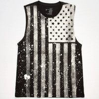 Blue Crown Merica Mens Muscle Tank Black  In Sizes