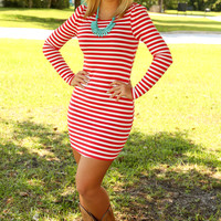 Cherry On Top Dress: Red/White