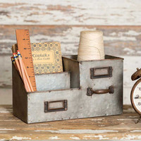 Three Bin Desk Organizer - *FREE SHIPPING*