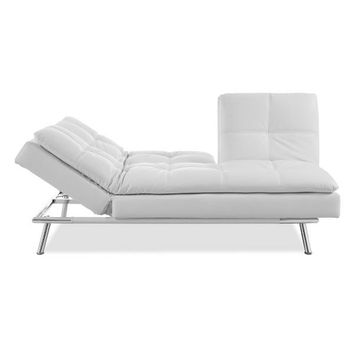 Serta® Palermo Convertible Sofa in White