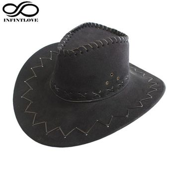 Children Kids Jazz Bull Rider Suede Cowboy Cowgirl Western Montana Travel Summer Hat Sunhat (One Size :54cm)