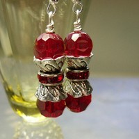 Christmas Red Sparkle Earrings 40% off SaLe Donation to Rescue