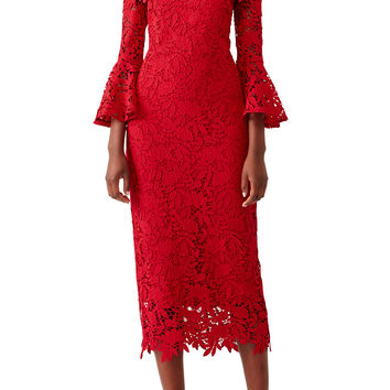Shoshanna Red Harrison Dress