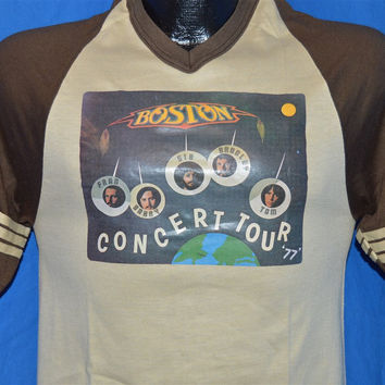 70s Boston Rock Band Concert Tour 1977 Jersey t-shirt Small