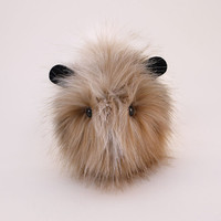 Dexter Brown and White Faux Fur Guinea Pig Plush 6x10 Inches Large Size