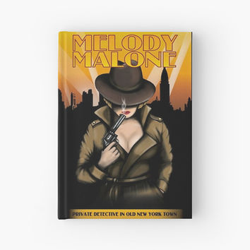 'Melody Malone Note Book' Hardcover Journal by agcdesign