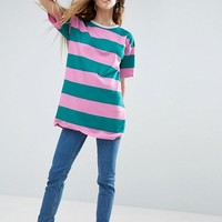 ASOS T Shirt In Rugby Stripe at asos.com