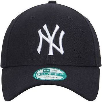 New York Yankees Hat Adjustable 9Forty The League Cap Navy New Era MLB