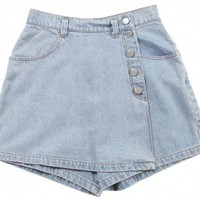 Pale Denim Shorts W26